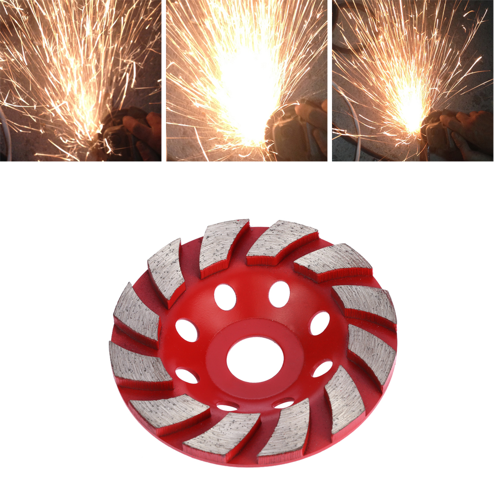 100mm 4 serra copo Diamond Grinding Wheel Disc dremel Multitool Grinder Cup Granite Masonry Terrazzo Marble for Building z lion 4 diamond cup wheel grit 30 silent core turbo cup grinding aluminum base abrasive tool for concrete granite thread m14