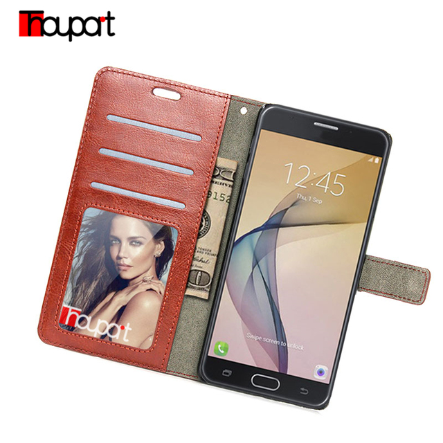 the best attitude aef44 bac5b US $3.92 12% OFF|Thouport Retro Business Flip Wallet For Samsung Galaxy J7v  Case Leather Cases For Samsung J7 Perx 2017 / J7 V J727V Cover-in Wallet ...