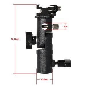 Image 3 - 2 упаковки, крепление для вспышки камеры Speedlite, поворотный светильник, подставка, кронштейн, зонт отражатель, держатель для canon, nikon, yongnuo, godox