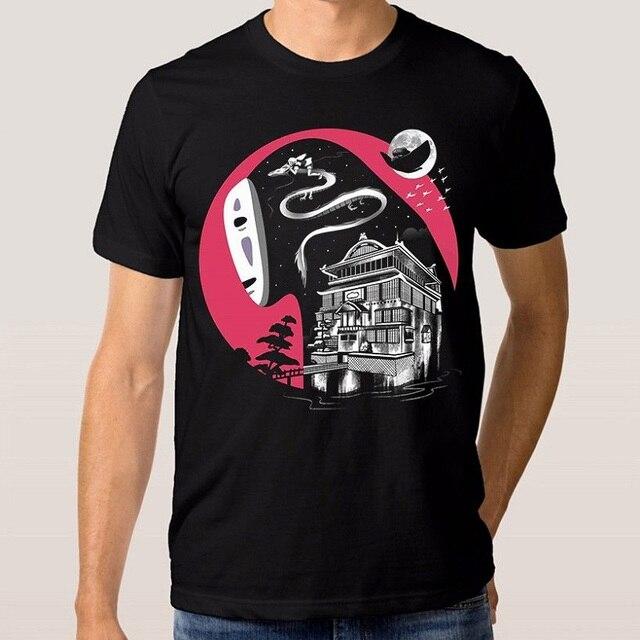 2018 Hot Sale New T Shirt Men's Short Sleeve Spirited Away   Miyazaki O Neck Tall T Shirt by Phiking