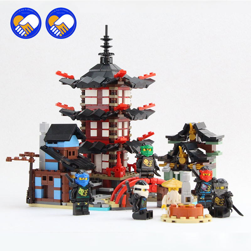 (A Toy A Dream)Ninja Temple of Airjitzu Smaller Version Bozhi 737 pcs Blocks Set Compatible with Lepin Toys for Kids Building lepin ninja temple of airjitzu smaller version bozhi 737 pcs blocks set compatible with lepin toys for children building bricks