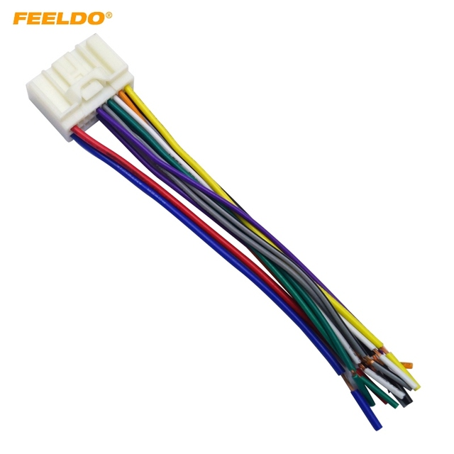 feeldo 5pcs car radio audio cd power harness cable adapter for rh aliexpress com mitsubishi lancer wiring harness diagram Mercury Wiring Harness