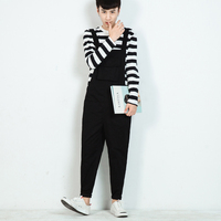 New Men S Bib Pants Suspenders Jumpsuits Men Women Fashion Casual Harem Pant Men Overalls Tooling