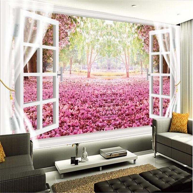 Buy sakura flower wallpaper and get free shipping on AliExpress.com
