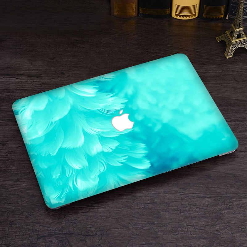 Xanh dương lông vũ Vinyl Decal Dán Cho DIY MacBook Air PRO RETINA 11 13 15 inch Decal cho Mac Laptop Full bao Da Miếng Dán