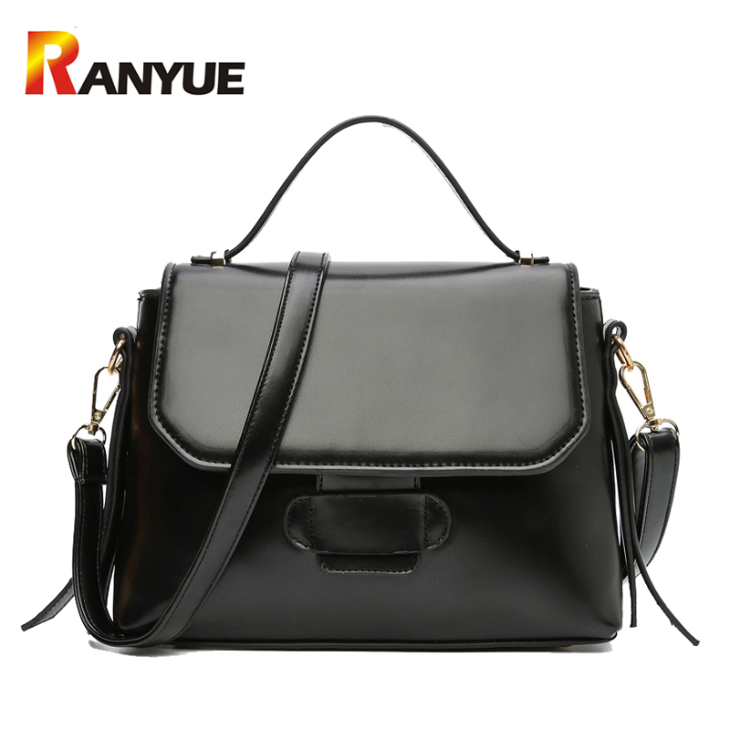 Fashion Trapeze Bag Women High Quality PU Leather Handbags Crossbody Bags For Wo
