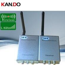 1 واط 5.8 جرام اللاسلكية AV جهاز الإرسال والاستقبال 5.8 جرام جهاز إرسال الفيديو لاسلكياً استقبال نقل لاسلكي بدون طيار الارسال FPV CCTV Monito