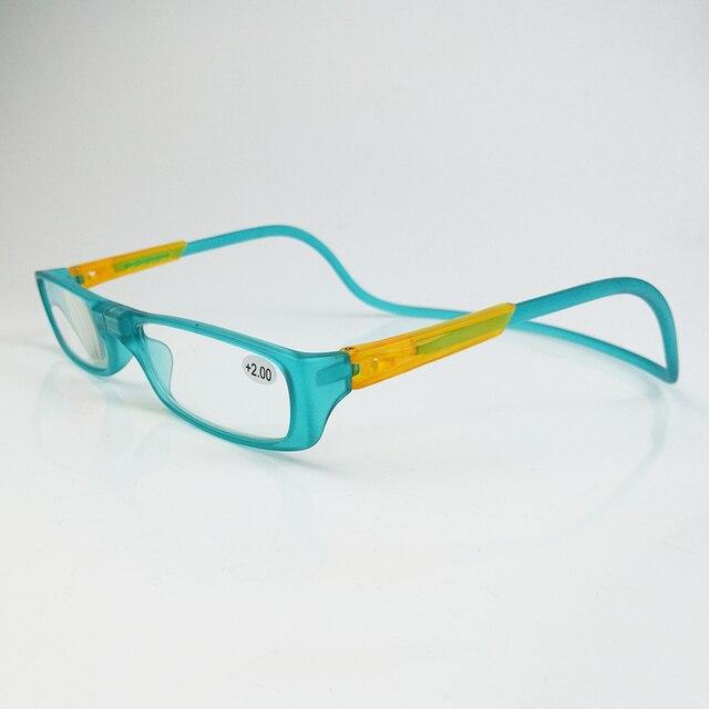 f5fa11e9ff35 Hanging Neck Adjustable Magnetic Reading Glasses Men Women Eyewear Lazy  Presbyopia Glasses Magnet Diopter 1.0 1.5 2.0 2.5 3.0