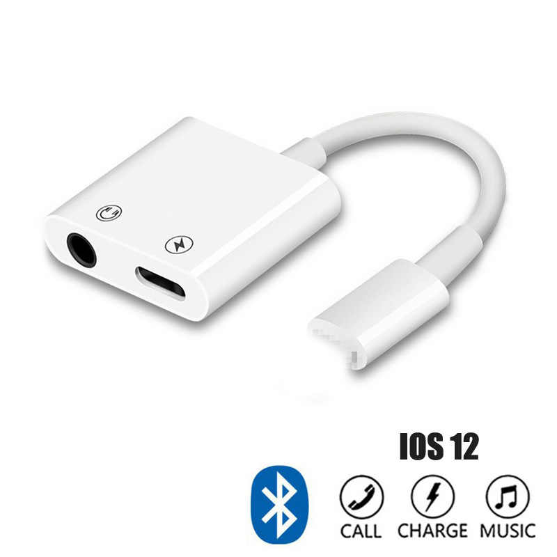 78522e5bfe6 For iPhone IOS 12.1.4 Bluetooth Adapter For Lightning to 3.5mm Headphone  Jack Adapter