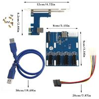1 Port PCI E 1X To 4 Slot 1X Switch Multiplier Expander HUB Expansion Riser Card
