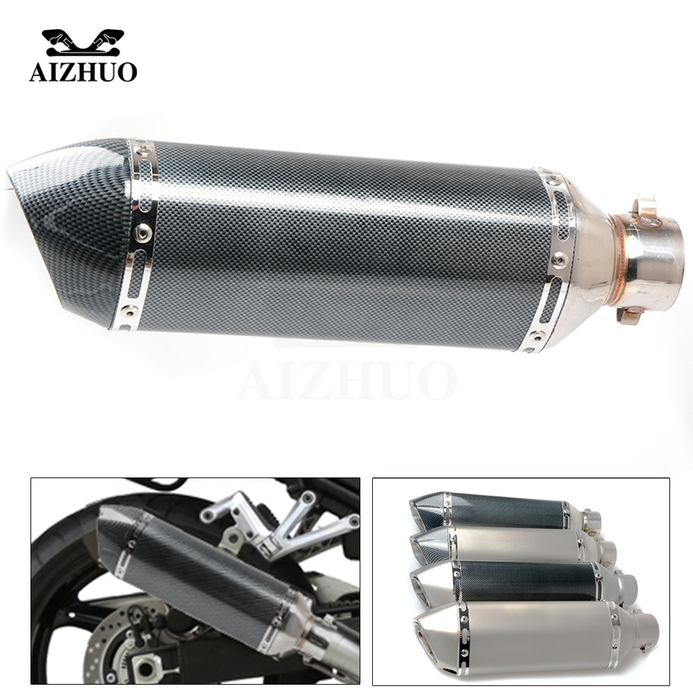 Motorcycle Exhaust pipe Muffler Escape DB-killer 36MM-51MM FOR HONDA CB600F CB650F CBF600 CBR600F hoRnet 250 AFRICA TWIN motorcycle 51mm exhaust muffler pipe with db killer 36mm connector for honda 125 cbf cbr1100xx cbr300r cb300f fa cbr500r cb500fx