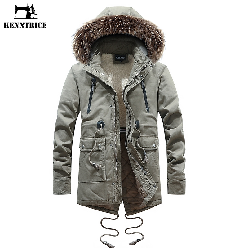 Geralds FASHION Womens Classic Winter Hooded Trench Jacket Warm Cotton Coat
