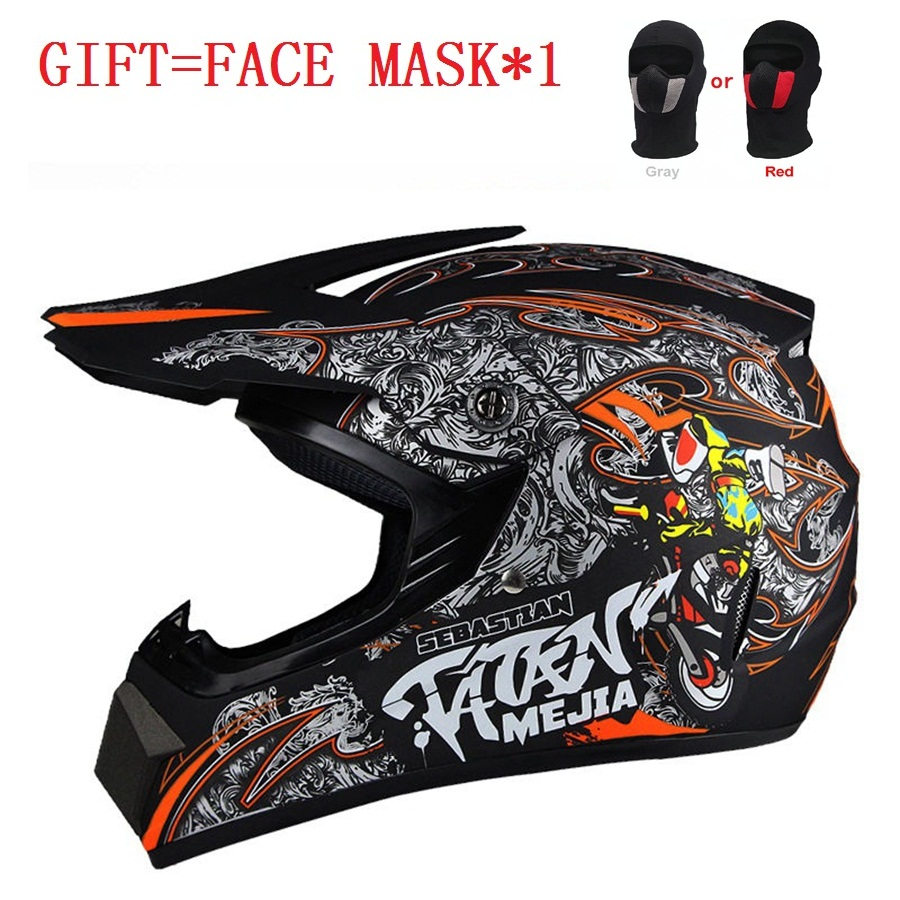 Free shipping 1pcs Mens New Motorcycle DOT Off-Road ATV Dirt Bike Gear Motocross Road Satey Motorcycel Helmets with Face mask crf50 frame battery box dirt pit bike case holder off road motorcycle apollo 110 chinese motocross