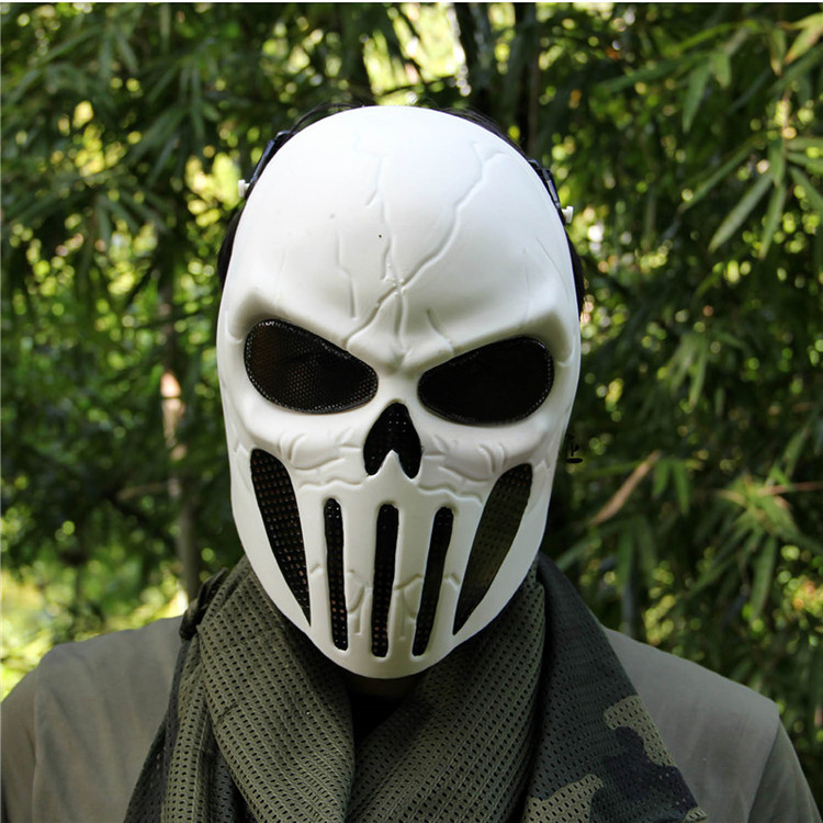 Good Chastener Ear-protective Mask CS Airsoft Paintball Full Face Mask Halloween Wargame Field game Cosplay Movie Prop Mask ...