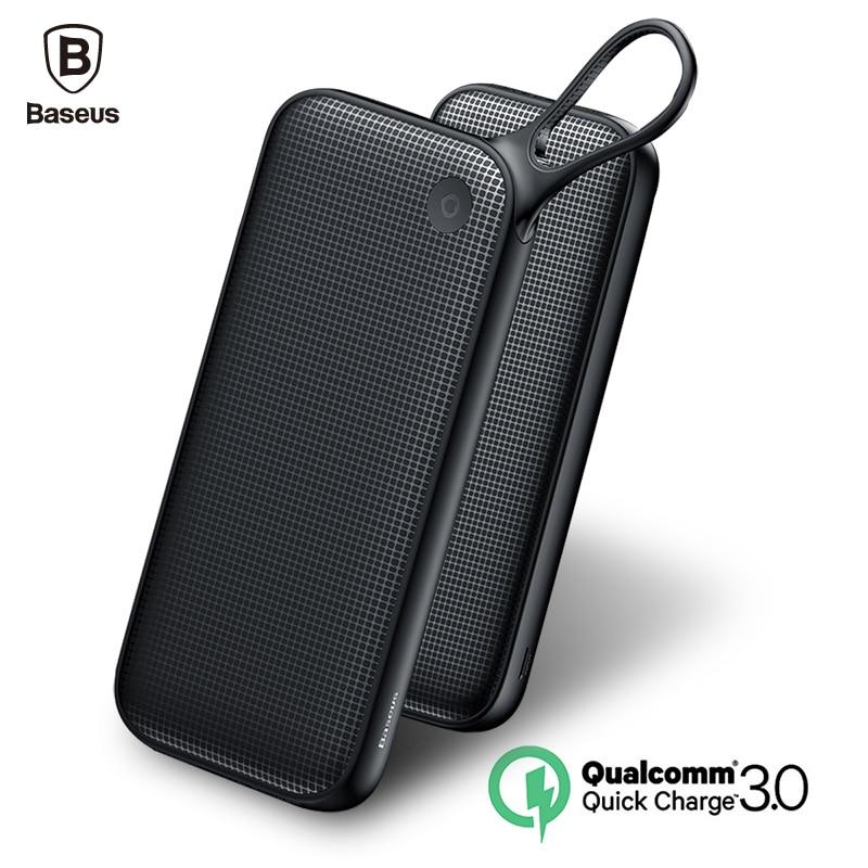 Baseus PD QC3.0 20000 mAh Puissance banque 5V3A Chargeur Rapide Pour iPhone Samsung 3 USB Puissance Banque Type C Rapide Charge Puissance de Sortie banque