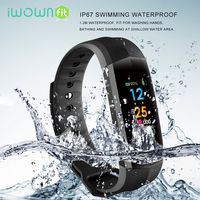 IWOWNFit CD02 Fitness Bracelet Waterproof Smart Wristband Heart Rate Tracker Color Screen Fitness Bracelet Charger 2018