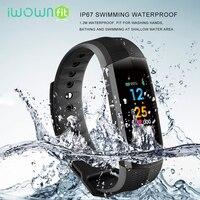 IWOWNFit CD02 Fitness Bracelet Waterproof Smart Wristband Heart Rate Tracker Color Screen Fitness Bracelet Charger 2018
