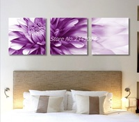 Unframed 3 Panel Wall Art Canvas Painting Big Beautiful Flower Wall Pictures For Living Room Modular