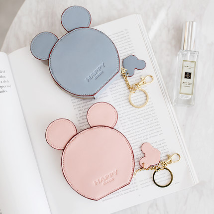 New Woman's Purse Cute Mickey Women Zipper Wallet Coin Purse Carteira Minnie Card Bag Key Ring Ladie Minnie Purse Cartera Mickey