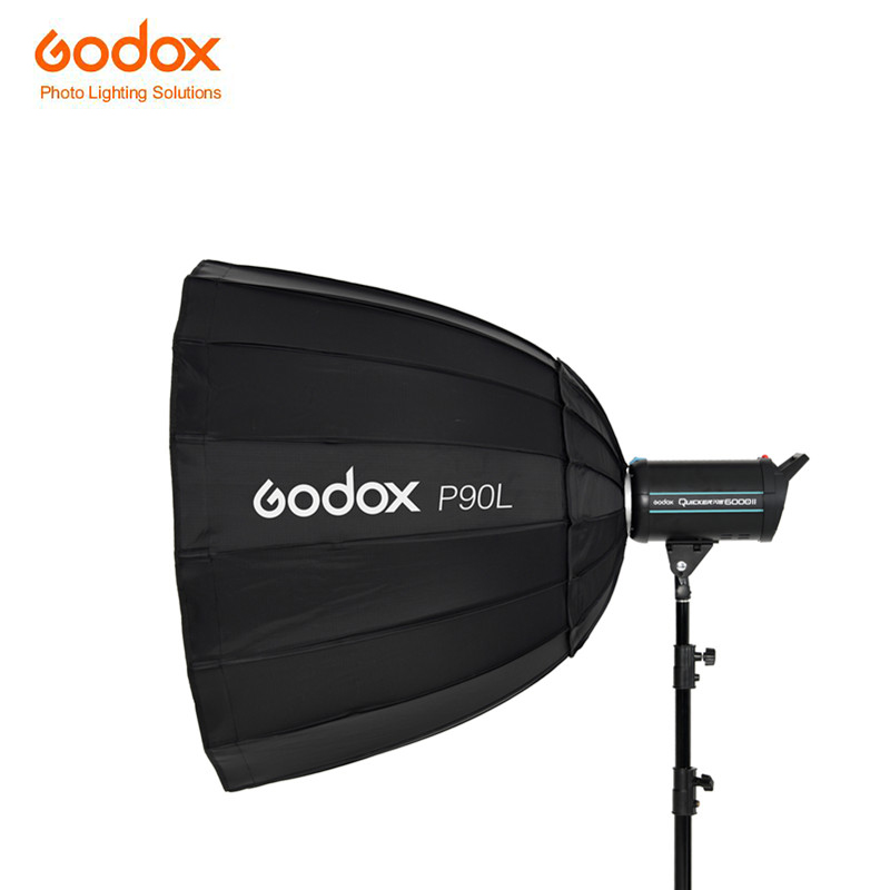 Godox NEW P90L 90CM deep parabolic Softbox with Bowens Mount for Studio Photography Strobe Speedlite Flash Quicker SK series godox portable deep parabolic softbox p90l 90cm for bowens mount studio flash speedlite reflector photo studio softbox
