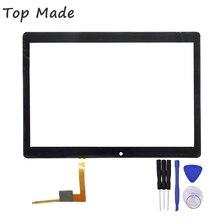 Nueva Pantalla Táctil de 10.1 pulgadas para TZ191 TZ 191 Tablet PC Panel de Cristal Digitalizador Del Sensor de Reemplazo con el Envío de Herramientas de Reparación