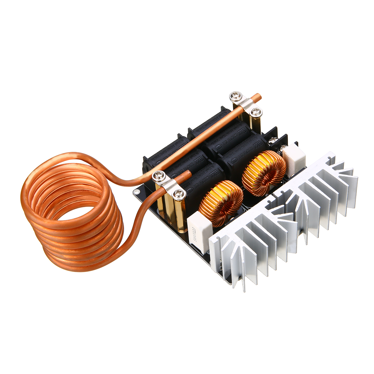 1pc 1000W ZVS Induction Heating Board Module Mayitr Low Voltage Heater DIY Board Module with Tesla Coil diy zvs tesla coil power supply boost voltage generator drive board induction heating module