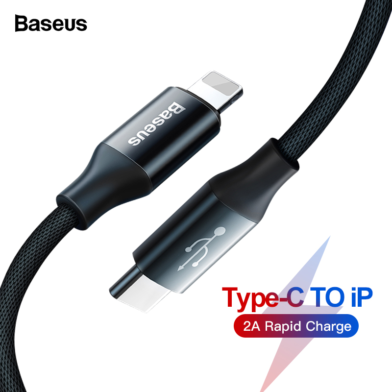 Baseus USB Type C to USB Cable For iPhone 11 Pro Xs Max Xr X 8 7 6 Fast Charging Charger Type-c Data Cable For Macbook iPad Mini