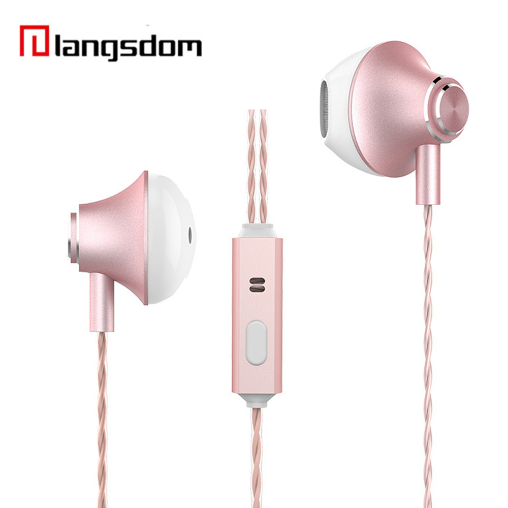 Half In-Ear Earphone for iPhone Bass Headset with Microphone Phone Earphones for Xiaomi Stereo Surround Sound Sport Earbuds super bass earphone hifi stereo sound 3 5mm earbuds in ear earphones with mic sport running headset for phone