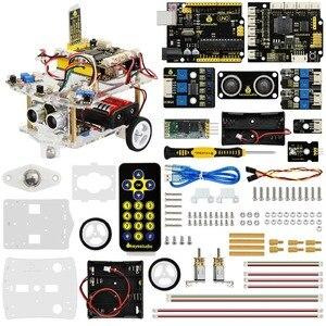 Image 2 - NEW!Keyestudio 2WD Desktop Mini Bluetooth Robot  Smart Car V2.0 Kit For Arduino Robot Starter  STEM Four  Function(No Battery)