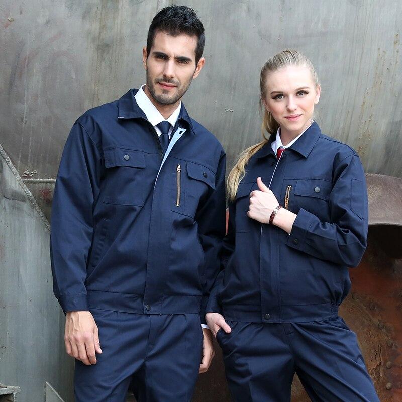 FASHION gas station anti-static work uniform gas service uniform set of coat pants long sleeve gas station service uniform anti static uniform 4s service coat