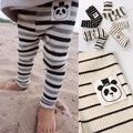 Calças para Bebés Meninos Meninas Infantil Animal Panda Xadrez Stripe Leggings Calças Das Crianças Dos Miúdos Dos Desenhos Animados Da Criança Roupas de Outono 2016