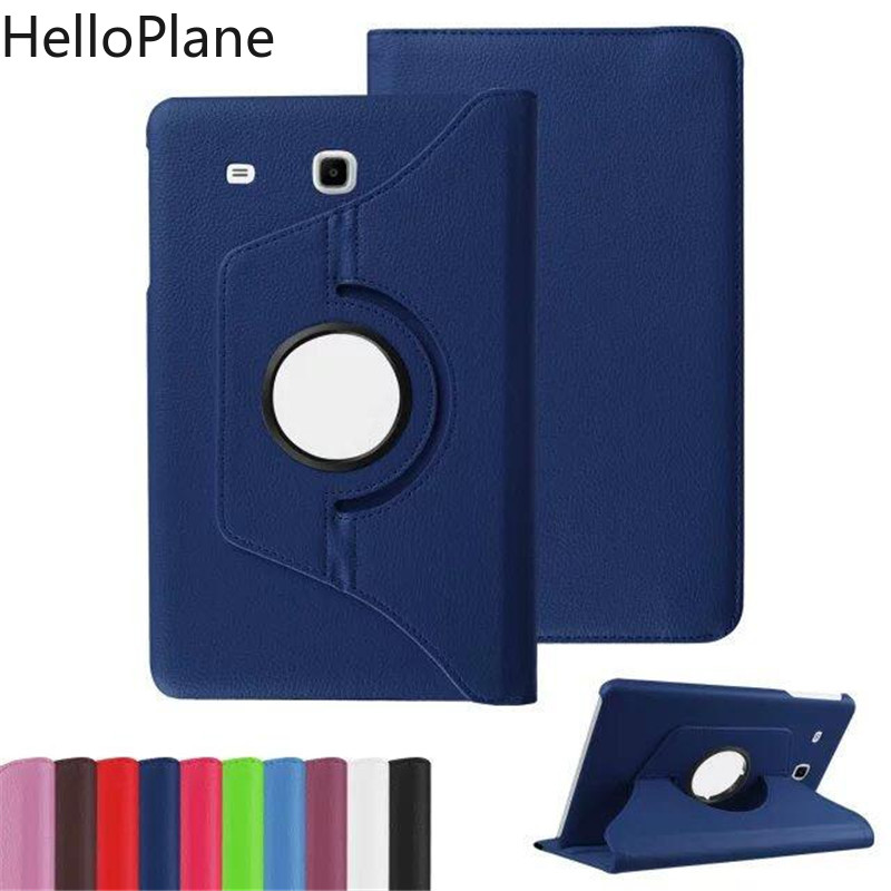 For Samsung Galaxy Tab E 9.6 Inch T560 T561 SM-T560 SM-T561 TabE Tablet Case 360 Rotating Bracket Flip Stand Leather Cover