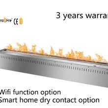 48 дюймов пульт дистанционного управления умный серебристый или черный wifi Электрический queimador para lareira de etanol