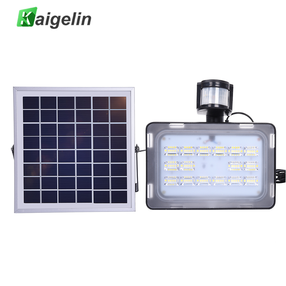 10/20/30 / 50W 12V PIR Solar Bevægelses Sensor Induktions Sense LED Flood Light Solar Lampe IP65 SMD2835 Solar Powered LED Floodlight