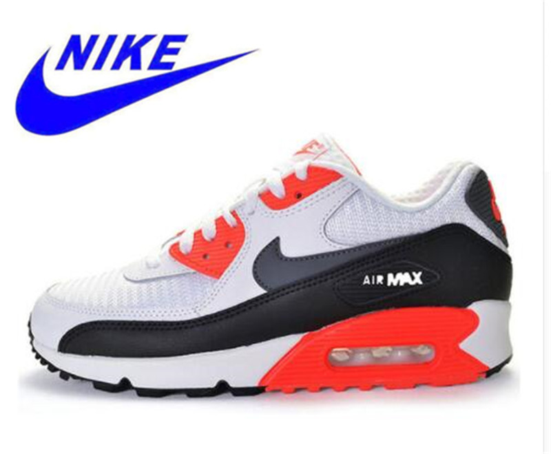 factory price 8ac4d 1a3b8 Original New Arrival Official NIKE Men s AIR MAX 90 ESSENTIAL Breathable  Running Shoes Sneakers Trainers -in Running Shoes from Sports    Entertainment on ...
