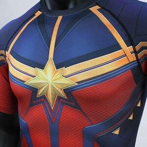 Image 4 - Captain Marvel 2019 nowa koszulka kompresyjna 3D koszulki z nadrukiem męska koszulka kompresyjna Cosplay szybkie suszenie ubrań dla siłowni t shirty