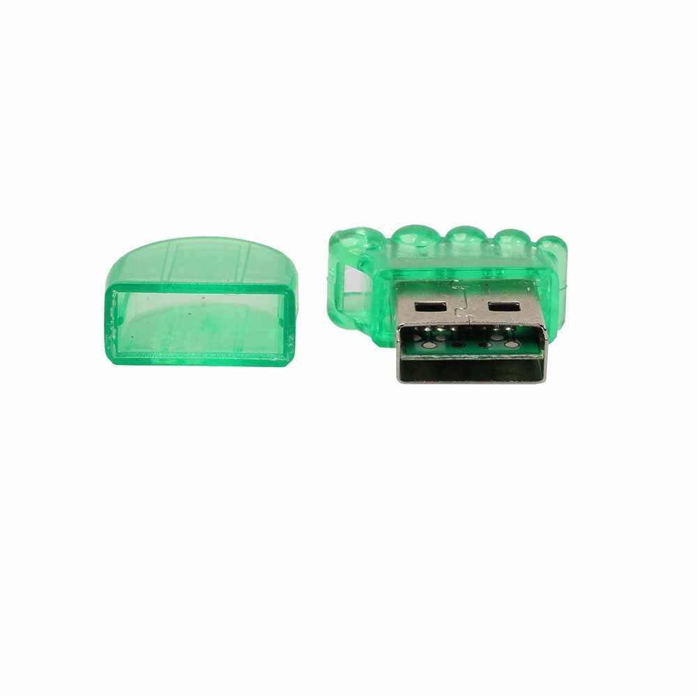 ホット販売高速ミニ USB 2.0 マイクロ SD TF T-フラッシュメモリカードリーダーアダプター
