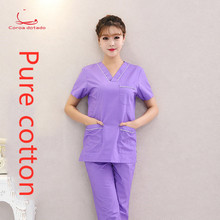 Hand-washing clothes scalpel pure cotton men and women nurses wear split suit doctor brush hand