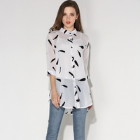 Bottoming Shirts Summer Style New Fashion Women Clothing Art Classic Wild Printing Tops Slim Plus Size