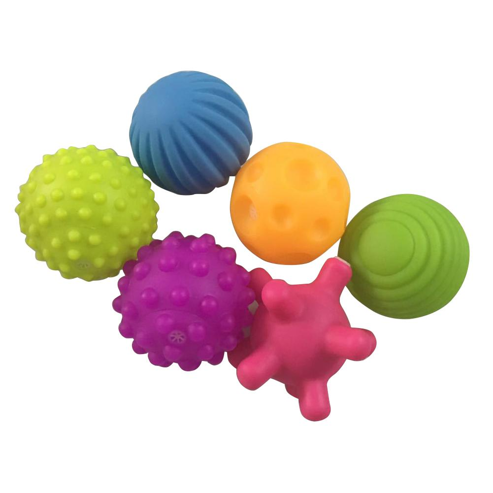 Fashion 4/6pcs Children Baby Colorful Hand Catch Ball Touch Massage Outdoor Indoor Toy We Take Customers As Our Gods Welding Helmets