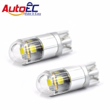 AutoEC 2x W5W LED T10 3030 Car lamps 168 194 Turn Signal License Plate Light Trunk Lamp Clearance Lights Reading lamp 12V White
