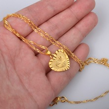 Romantic Jewelry Gold Color Heart Pendant