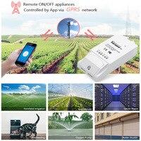 ITEAD Sonoff GRPS G1-SIM Karty Sieci Bezprzewodowej Zdalnego Sterowania nie trzeba Wifi Poprzez Android iOS Telefon dla Szklarni Pet Karmienia