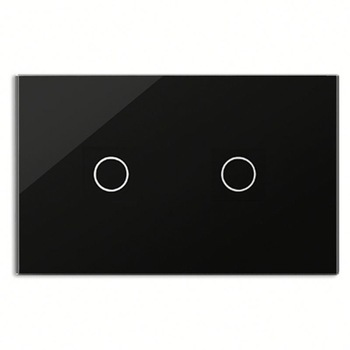 Bseed 240v Touch Light Switch 2 Gang 2 Way Touch Sensor Switch With Glass Panel Black Touch Switch Us Au Eu Uk k1rf ltech one way touch switch panel ac200 240v input can work with vk remote page 7
