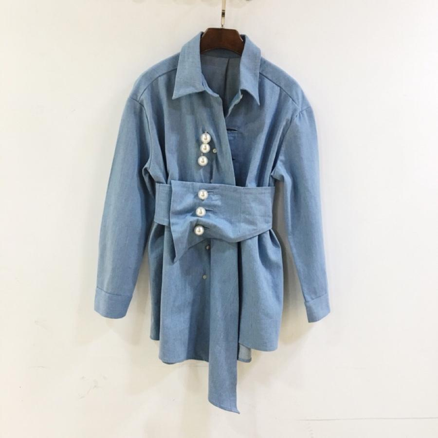 en News 1 Kpn8o0w 13 Rmsx Jean 2019 camisa Mujer Pearl Button 5R4jLA