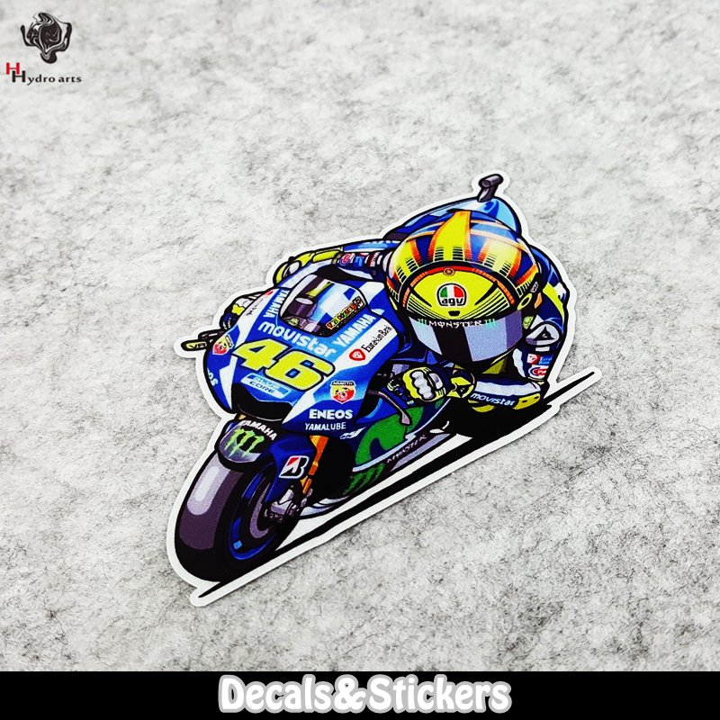 NO.LN148 VR46 Rossi 3M Material Reflective Stickers MOTO GP Car Sticker Decals Racing Stickers Motorcycle