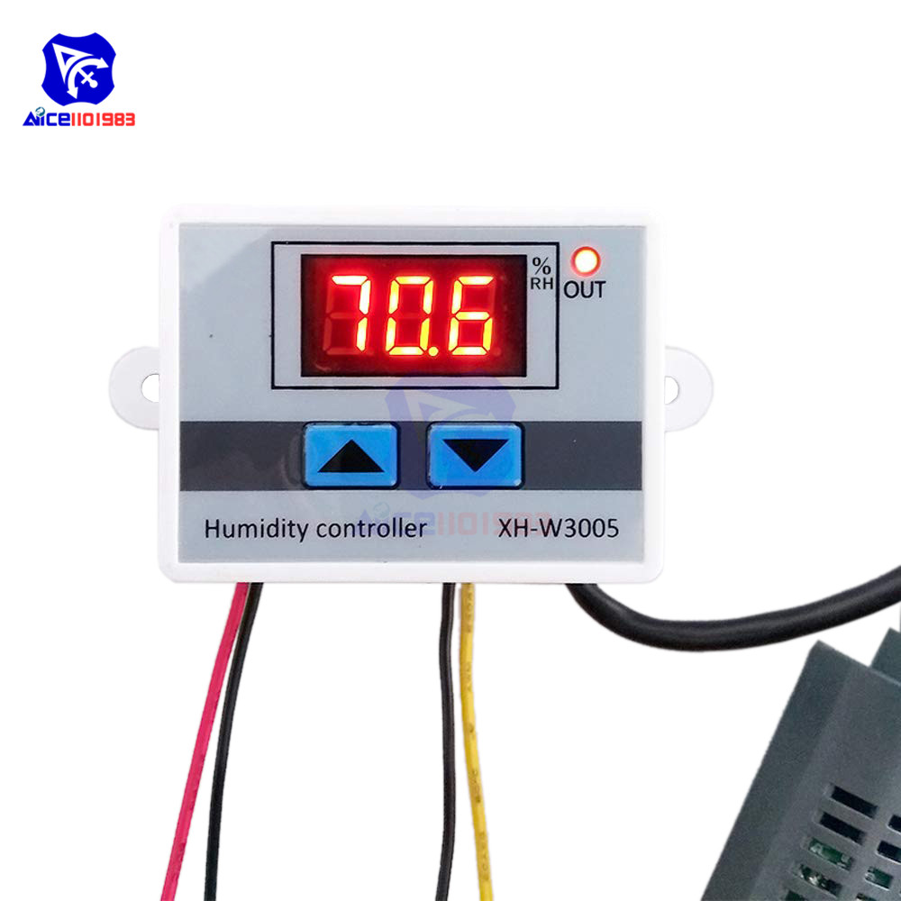 Mtc1000a Ac 220v Digital Led Microcomputer Humidity Controllers Hygrometer Dehumidify Switch Relay Hygrostat 0-99%rh Control Fast Color Temperature Instruments