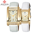 2017 amantes reloj julius marca de lujo rectángulo encanto números arábigos hombres mujeres señoras reloj de pulsera de cuero horas relogio feminino