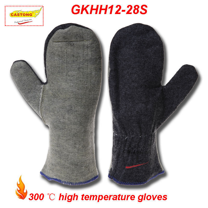 CASTONG 300 degrees High temperature gloves No finger Anti-shedding fire gloves kitchen oven Baking barbecue safety gloves цена