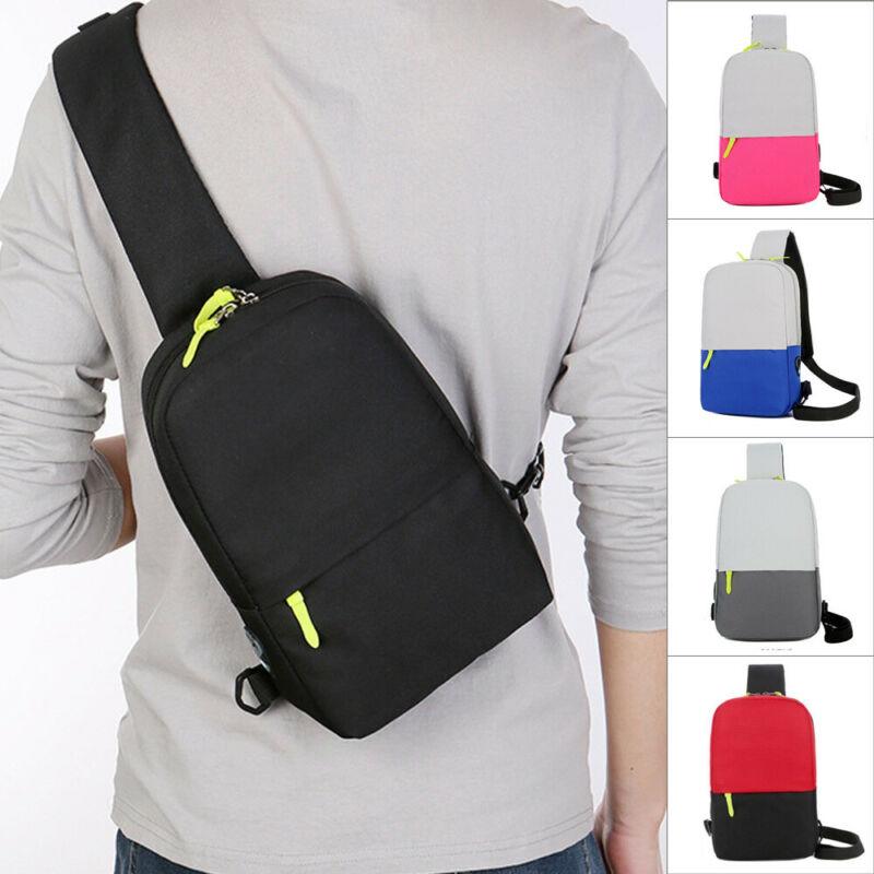 NoEnName Waterproof Men's Oxford Shoulder Bag Outdoor Travel Chest Crossbody Sling Bag Backpack